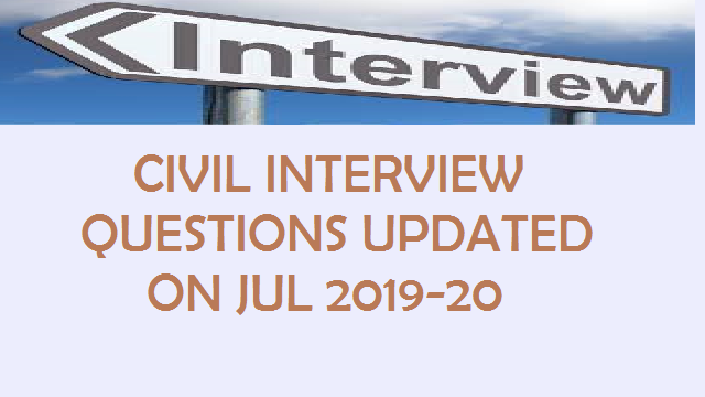 Civil Interview Questions Top Civil Question And Answer